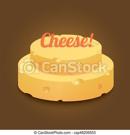 gelbes kuchendesign logos, käse kopf, form, hart, gelber , kuchen. käse kopf, form, text, Design ideen