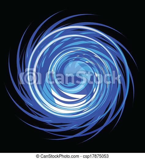 kék, örvény, elvont, vektor, tervezés - csp17875053