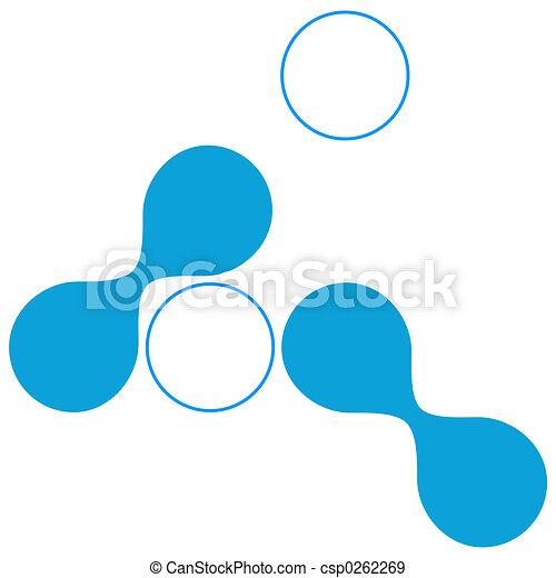 kék, alakzat, techno, szerves - csp0262269