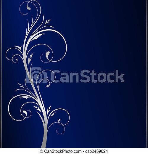 kék, alapismeretek, sötét, finom, háttér, virágos, ezüst - csp2459624