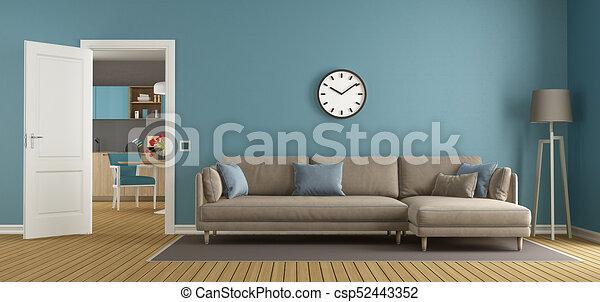 Kék barna nappali