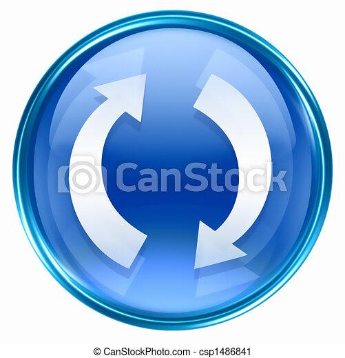 kék, felfrissít, ikon - csp1486841