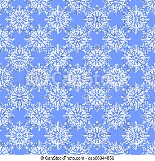 kék, floral példa, háttér - csp66044856