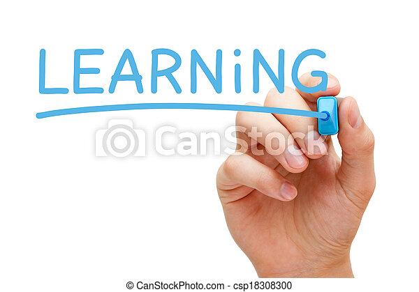 kék, könyvjelző, tanulás - csp18308300