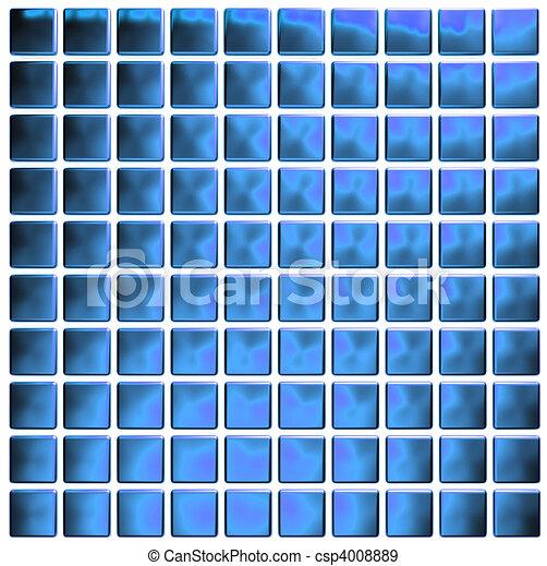 kék, mózesi, (3d, render) - csp4008889