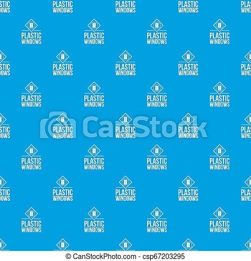 kék, motívum, ablak, seamless, műanyag - csp67203295
