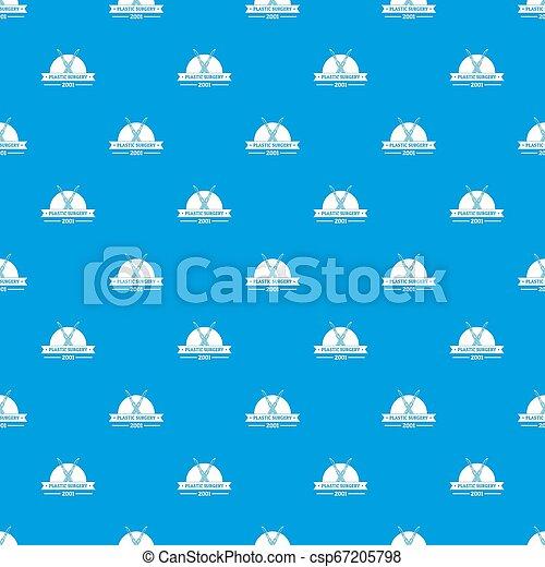 kék, motívum, sebészet, seamless, műanyag - csp67205798