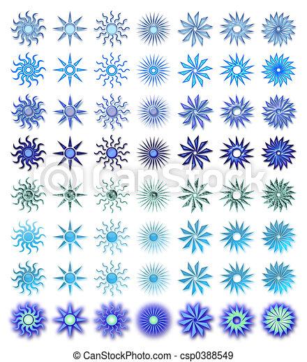 kék, nap, alakít - csp0388549