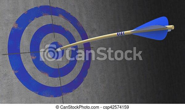 kék, nyíl, 3 - csp42574159