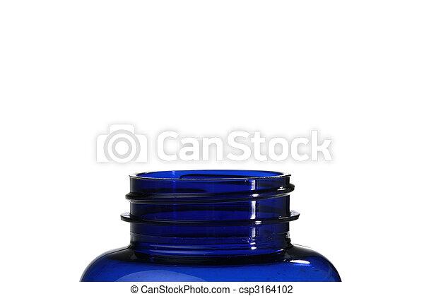 kék, palack, műanyag - csp3164102