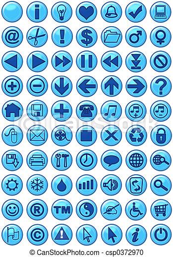 kék, szövedék icons - csp0372970