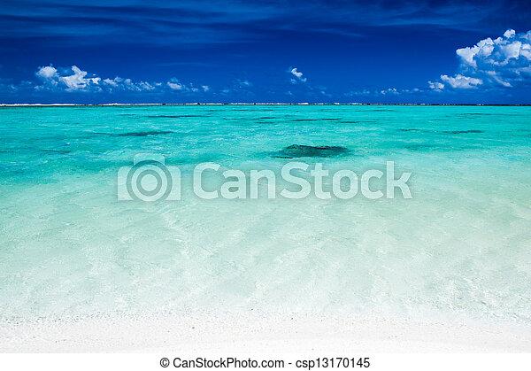 kék, vibráló, ég, óceán, tropikus, befest - csp13170145