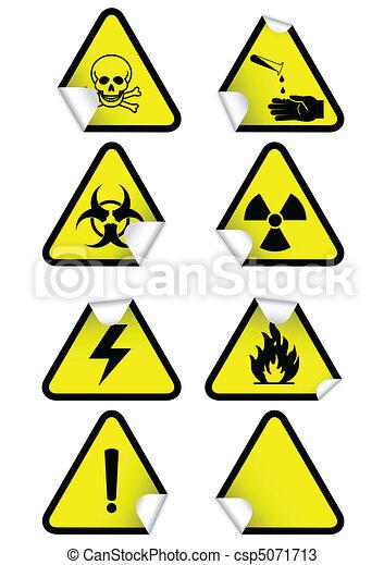 kémiai, állhatatos, figyelmeztetés, signs. - csp5071713