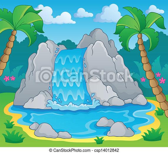 kép, 2, téma, vízesés - csp14012842