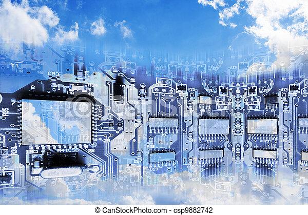 kép, felhő, kiszámít, fogalmi - csp9882742