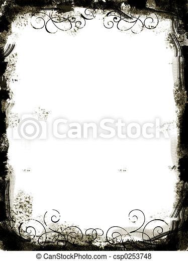 kép, grunge, határ - csp0253748