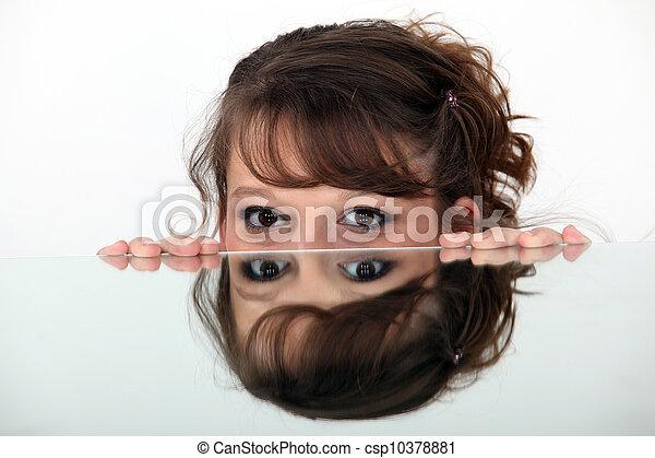 kép, nő, tükör - csp10378881