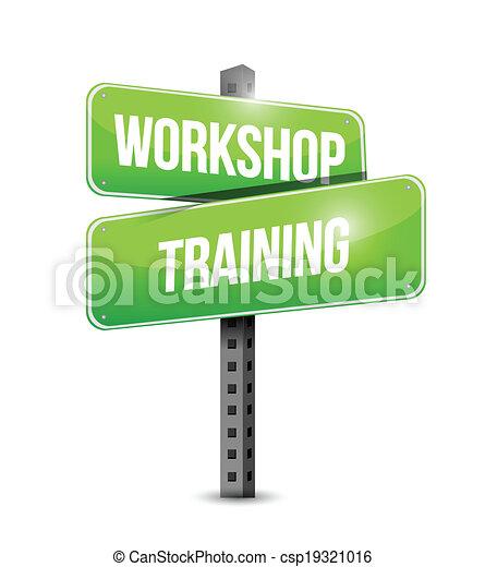 képzés, utca, ábra, aláír, műhely, tervezés - csp19321016