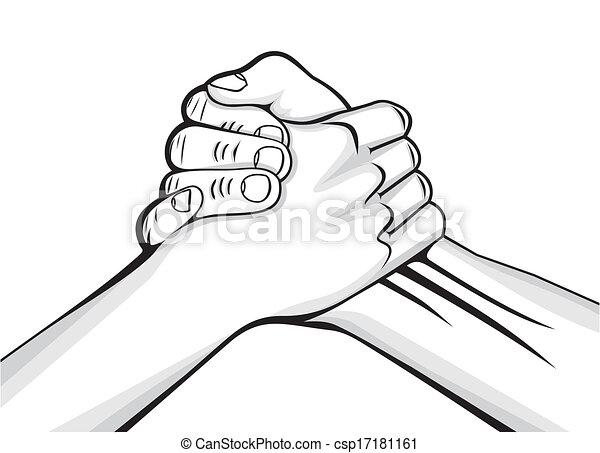 kézfogás, hím, 2 kezezés - csp17181161