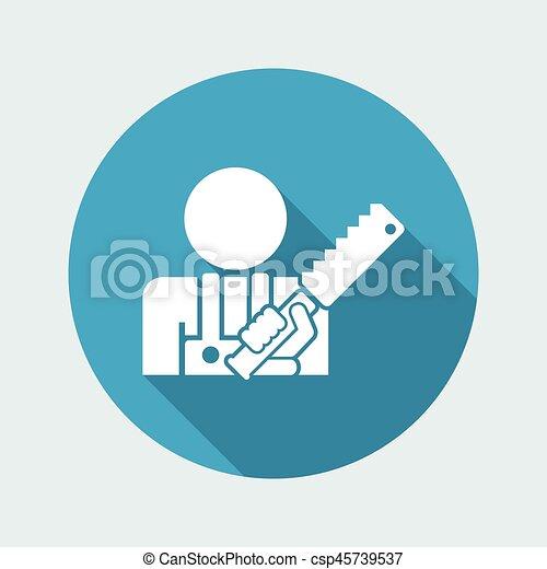 kézműves, ikon - csp45739537