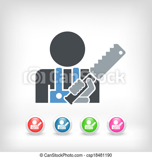 kézműves, ikon - csp18481190