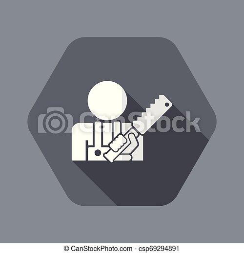 kézműves, ikon - csp69294891