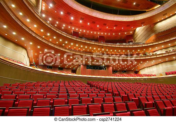 kína, nemzeti színház, nagy - csp2741224