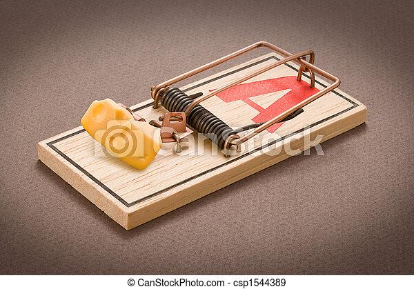 Mousetrap mit Köder - csp1544389