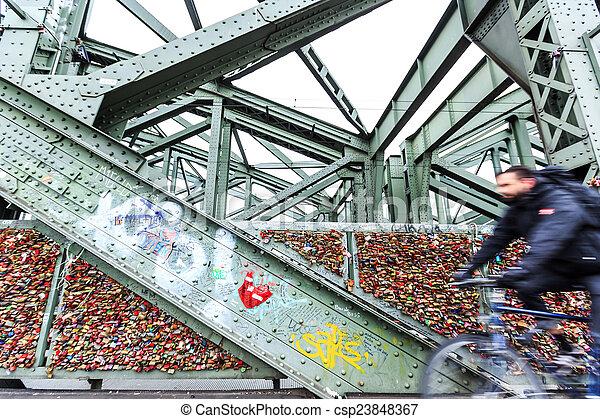 Köln brücke mit schlösser