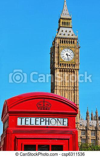 königreich, groß, vereint, ben, london - csp6311536