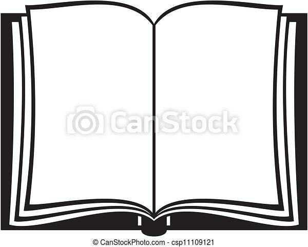 könyv, nyílik - csp11109121