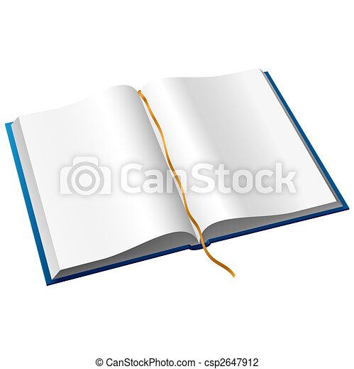 könyv, nyílik - csp2647912