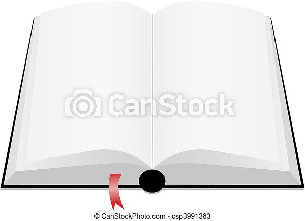 könyv, nyílik - csp3991383