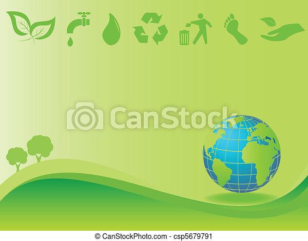 környezet, földdel feltölt, kitakarít - csp5679791