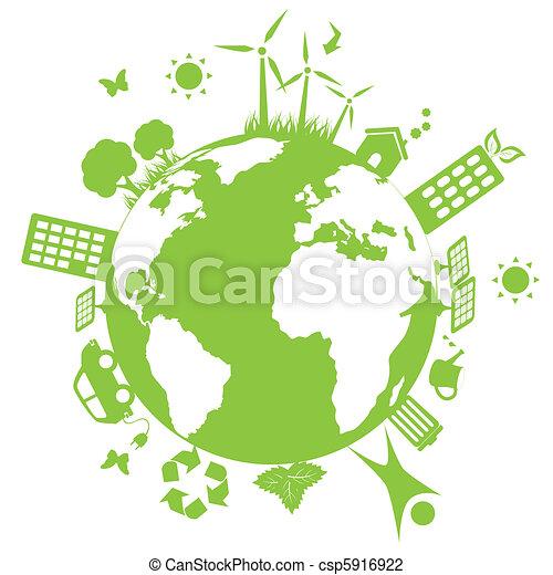 környezeti, zöld földdel feltölt - csp5916922