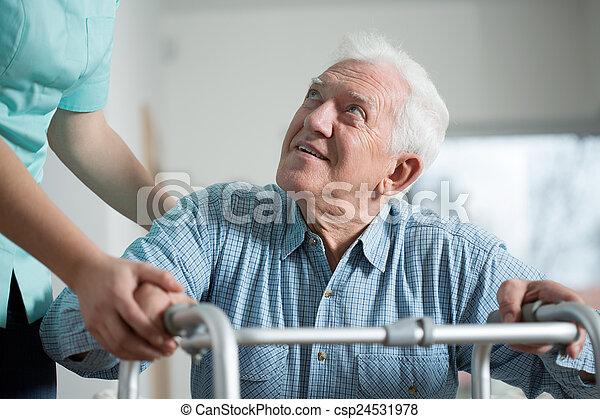 közelkép, idős, ember - csp24531978