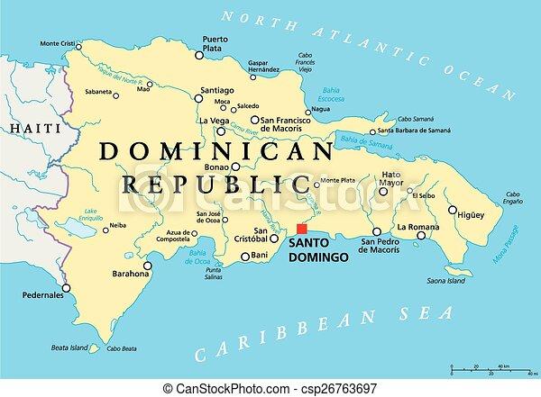 Koztarsasag Politikai Dominikai Terkep Terkep Scaling