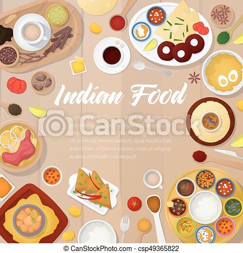 Kuche Curry Indische Menukarte Huhn Abbildung Essen