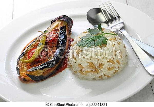 Türkisch Küche | Kuche Pilav Karniyarik Turkisch Kuche Pilaf Vollgestopft