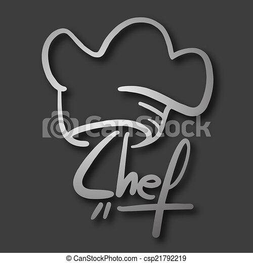 küchenchef, ikone - csp21792219