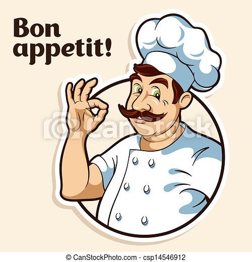 Koch bei der arbeit clipart  Küchenchef, koch. Küchenchef, abbildung.