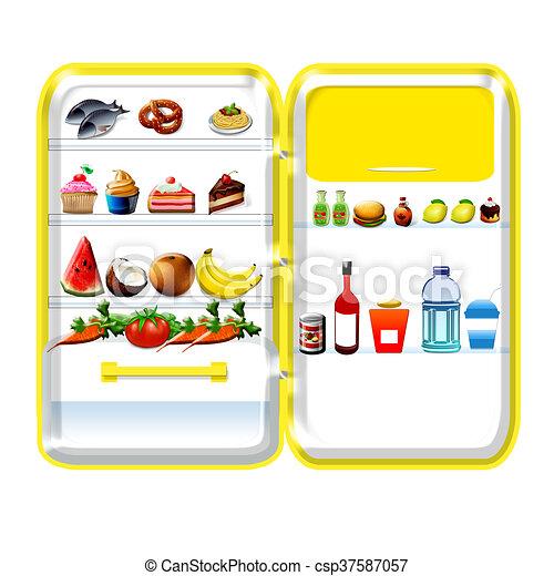 Gelber Kühlschrank mit besten Bildsammlungen