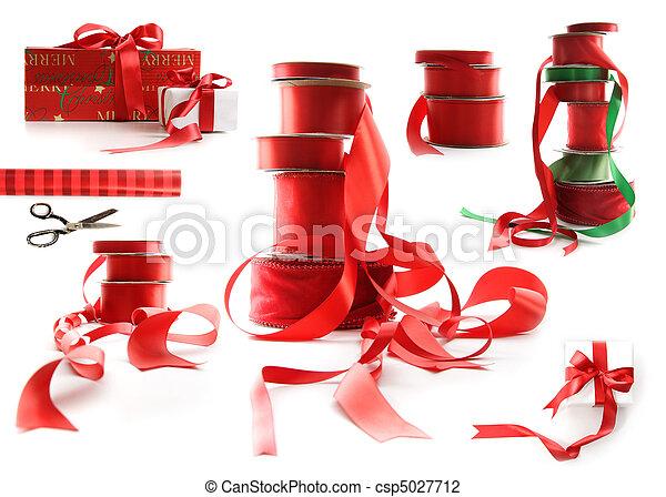 különböző, tehetség, nagyság, dobozok, csomagolt, fehér, gyeplő, piros - csp5027712