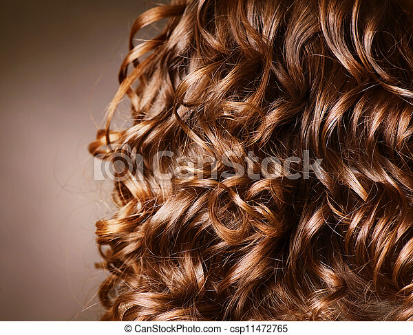 kędzierzawy, .natural, machać, włosy, hair., hairdressing. - csp11472765