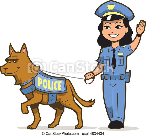 k 9 police dog and asian female police officer vectors search clip rh canstockphoto com