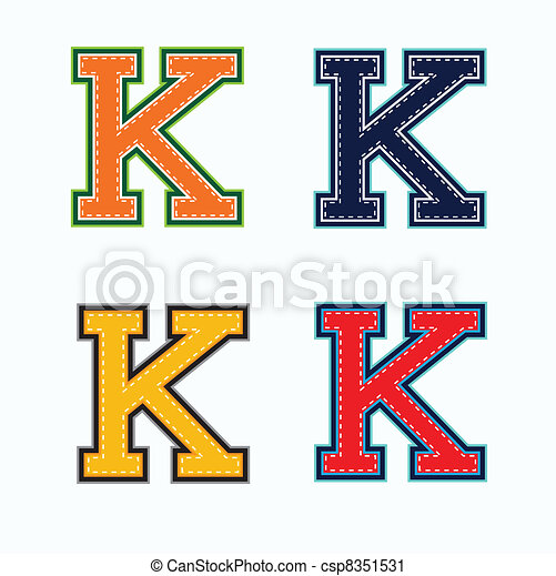 k college letter in 4 colors vector clip art search illustration rh canstockphoto com letter c clipart letter c clipart