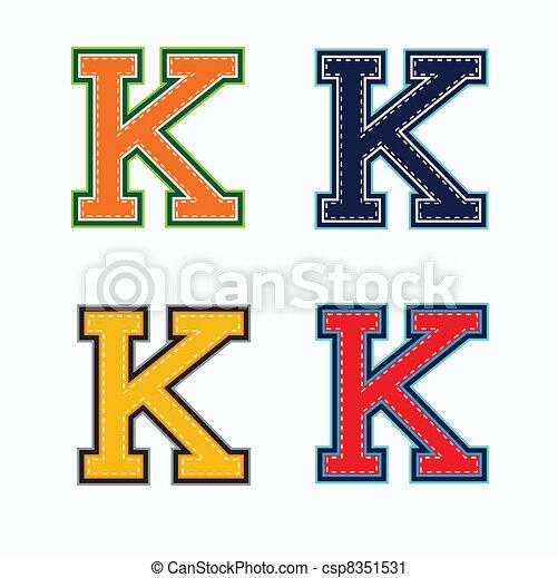 k, hochschule, brief - csp8351531