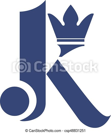 Letter K Mit Kronen Vektor Logo Design Erste Buchstaben K