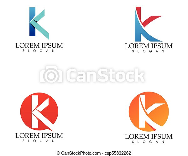 K Letter Abstract Business Logo Symbol K Letter Folded Abstract