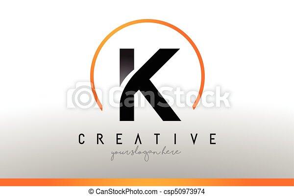 K letter logo design with black orange color cool modern k letter logo design with black orange color cool modern icon template vector spiritdancerdesigns Images